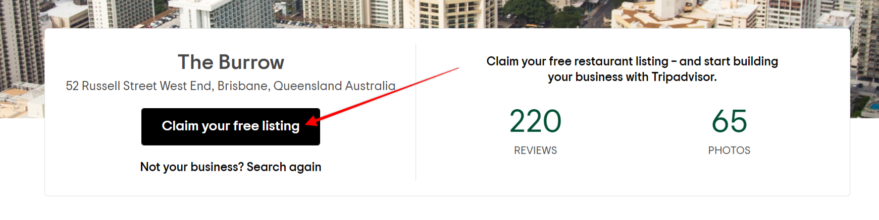 How to claim your TripAdvisor listing