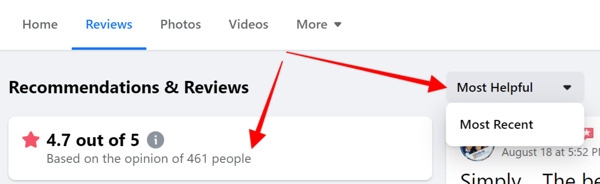 How to hide your Facebook reviews